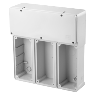 MODULAR BASE FOR MOUNTING COMBINATION OF FIXED VERTICAL SOCKET OUTLET - 3 16/32A SBF - IP55
