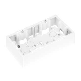 WALL MOUNTING BOX FOR DAHLIA PLATE - 2 GANG - BIANCO