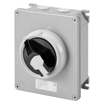 Surface-mounting isolator - control version with lockable black/grey knob - IP66