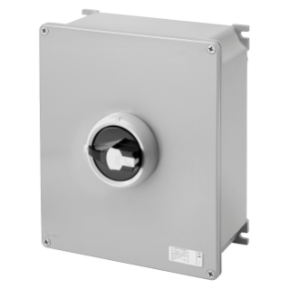 ROTATORY ISOLATOR - HP- SURFACE-MOUNTING - COMMAND - METAL BOX - 100A 4P - LOCKABLE BLACK KNOB - IP66