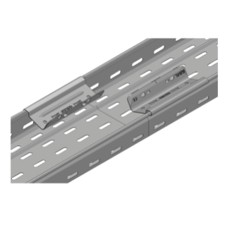 CABLE TRAY WITH TRANSVERSE RIBBING IN GALVANISED STEEL - BRN50 - PREASSEMBLED - WIDTH 65MM - FINISHING HDG