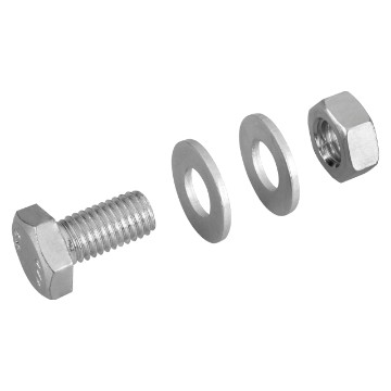 M8x60 hex. bolt + 2 M8 washers