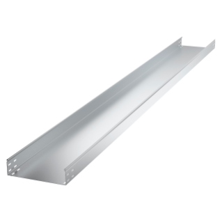 CABLE TRAY IN GALVANISED STEEL - NOT PERFORATED - BRN50 - LENGTH 3M - WIDTH 215MM - FINISHING HDG