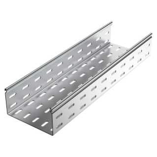 CABLE TRAY WITH TRANSVERSE RIBBING IN GALVANISED STEEL - BRN95 - WIDHT 515MM - FINISHING Z275