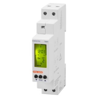 COMPACT WEEKLY TIME SWITCH - CHARGE RESERVE 4 YEARS - 1 NO CONTACT - 1 MODULE