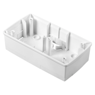 WALL-MOUNTING BOX FOR ONE PLATE - INTERNATIONAL STANDARD 2+2 GANG - HORIZONTAL - WHITE - CHORUS