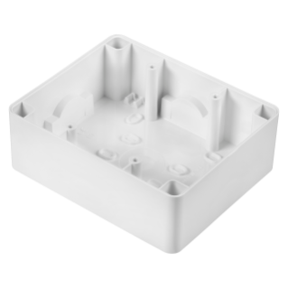 WALL-MOUNTING BOX - FOR COMPACT SELF-SUPPORTING PLATE - 3+3 GANG - CLOUD WHITE - SYSTEM