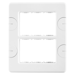 COMPACT PLATE - SELF-SUPPORTING - 6 GANG (3+3 OVERLAPPING) - CLOUD WHITE - SYSTEM