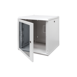 19'' WALL MOUNT CABINET - METAL - TRANSPARENT DOOR - 12U - 600X605X400 - RAL 7035 GREY