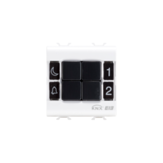 COMMANDE - EASY - 4 CANAUX 2 MODULES - BLANC - CHORUS