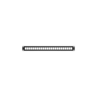 19'' EMPTY PATCH PANEL - 24 UTP/FTP RJ45 SOCKETS 1U - BLACK