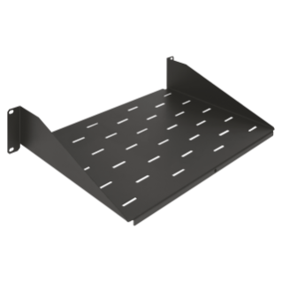 10'' FIXED SHELF - DEPTH 150MM - 1U - BLACK