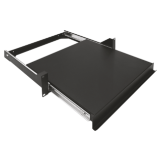 19'' SLIDING SHELF - DEPTH 410MM - 2U - BLACK