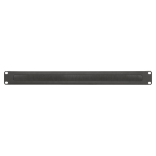 19'' CABLE MANAGEMENT PANEL - WITH BRUSHES - 1U - BLACK