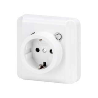 FLUSH MOUNTING RCD SAFETY SOCKET-OUTLET - 16A 0,01mA IP21