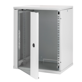 10'' WALL MOUNT CABINET - METAL - TRANSPARENT DOOR - 325X400X262 - RAL 7035 GREY