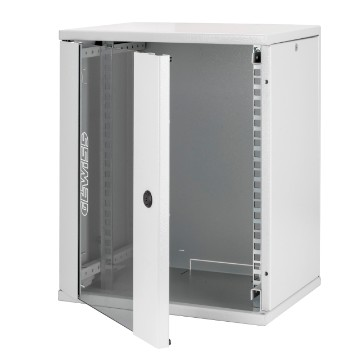 "10"" metal wall mount cabinet with transparent door"