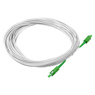 SC/APC - SC/APC SINGLE-FIBER OPTIC CABLE - 40M - WHITE