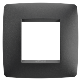 ONE INTERNATIONAL PLATE - IN PAINTED TECHNOPOLYMER - 2 MODULES - SATIN BLACK - CHORUS
