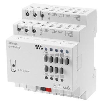 KNX universal dimming actuator with manual operation - IP20 - DIN rail mounting