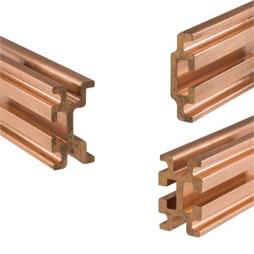Pair of copper shaped busbars for QDX 1600H distribution boards