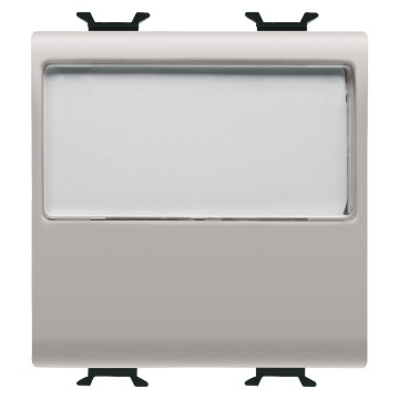 Push-buttons 1P with illuminated name plate - 250V ac