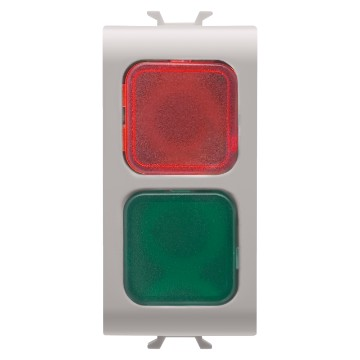 Double indicator lamps - 1 module