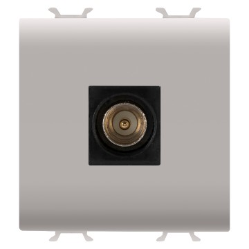 Coaxial TV sockets (5-2400 Mhz), class A shielding - male IEC connector Ø 9.5mm