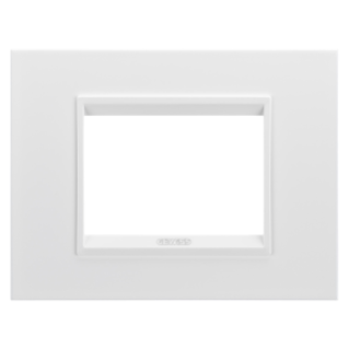 PLAQUE LUX RECTANGULAIRE - EN MÉTAL - 3 MODULES - BLANC MONOCHROME - CHORUS