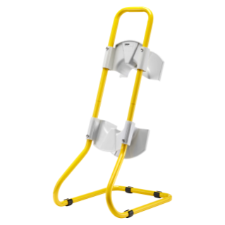 TUBOLAR METAL STAND YELLOW PAINTED - FOR Q-DIN14/20