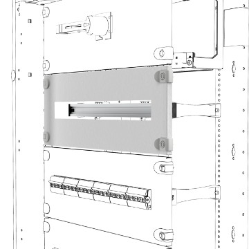 Window panels with DIN rail
