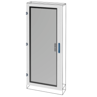 GLASS DOOR - QDX 630 L - FOR STRUCTURE 850X2000MM