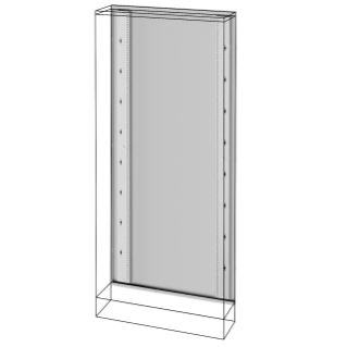 REAR FRAME - FLOOR - MOUNTING DISTRIBUTION BOARDS - QDX 630 L - 850X2000MM