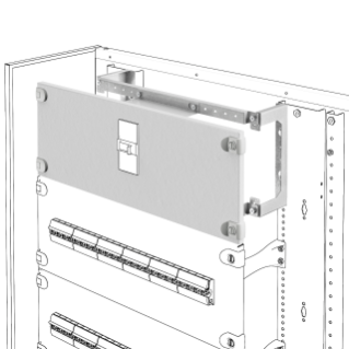 INSTALLATION KIT FOR MCCB'S ON PLATE - HORIZZONTAL - FIXED VERSION - DIRECT ROTARY HANDLE - MSX/D 125 - 600X200MM