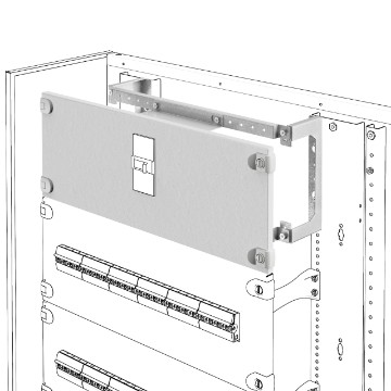 Installation kit for MCCB's up to 630 A in horizontal position fixed version