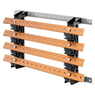 PAIR OF BUSBAR-HOLDER - FOR FLAT BUSBARS 30x10 - 630A - FOR STRUCTURES D=300 - STRUCTURES L=600 - FOR QDX 630L