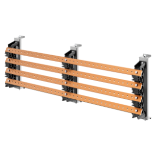 PAIR OF BUSBAR-HOLDER - FOR FLAT BUSBARS 30x10 - 630A - FOR STRUCTURES D=400 - EXTERNAL COMPARTEMENT - FOR QDX 630H