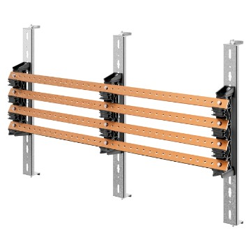 Pair of busbar-holders with crosspieces for vertical flat busbars for QDX 1600H distribution boards