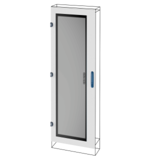 GLASS DOOR - QDX 630/1600 H - 600X1800MM