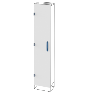 BLIND DOOR - FOR EXTERNAL COMPARTMENT - QDX 630 L - FOR STRUCTURE 400X1800MM