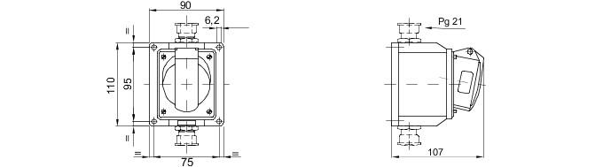 Gewiss 415V 16A de 4 pines zócalo de arrastre IP44 GW62008FH #10688
